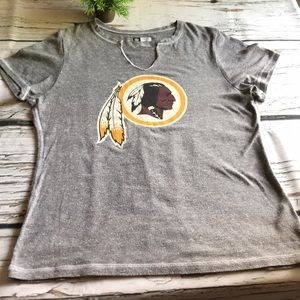 NFL Redskins short sleeved tee..grey heather..XXL